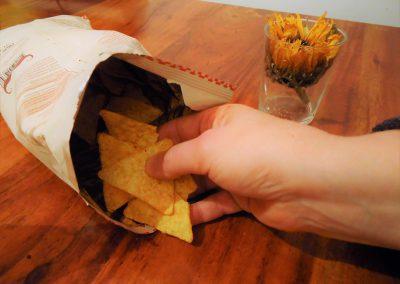Tortilla Chips fürs Topping
